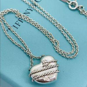 Tiffany Retired Cupid's Arrow heart necklace